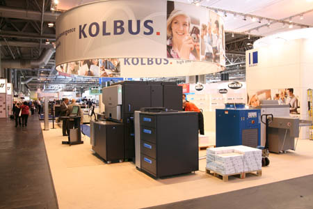 Kolbus booth at IPEX 2010